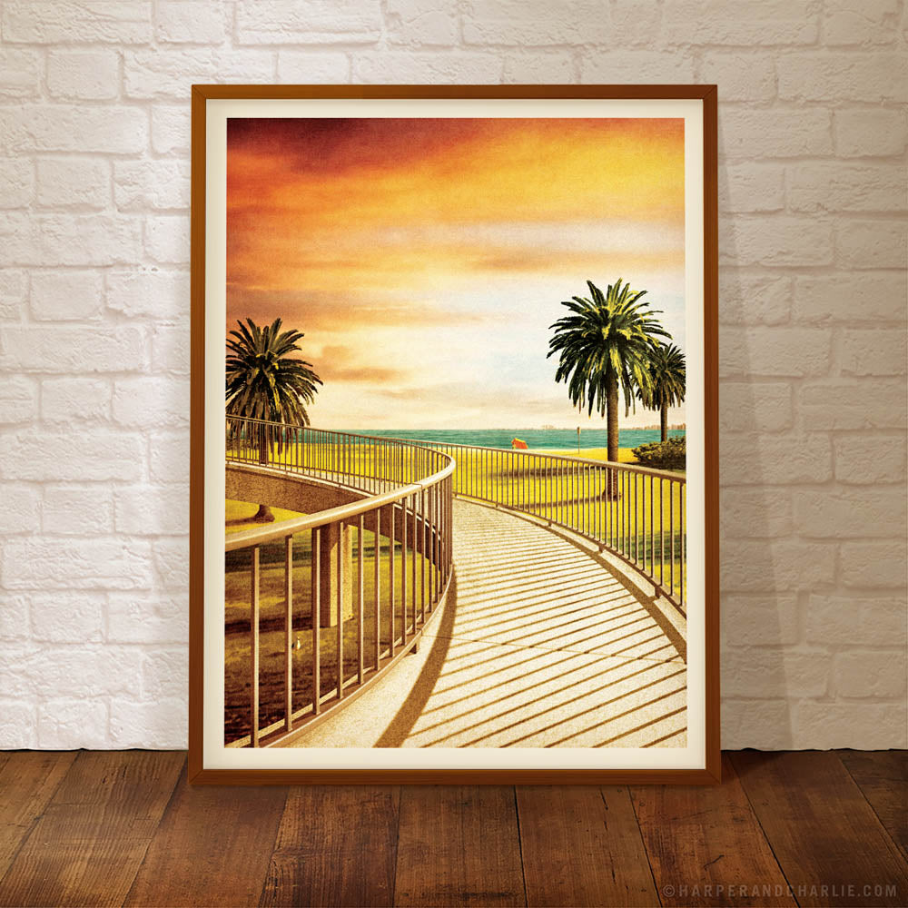 Jacka Boulevard St Kilda Colour Print by Harper and Charlie