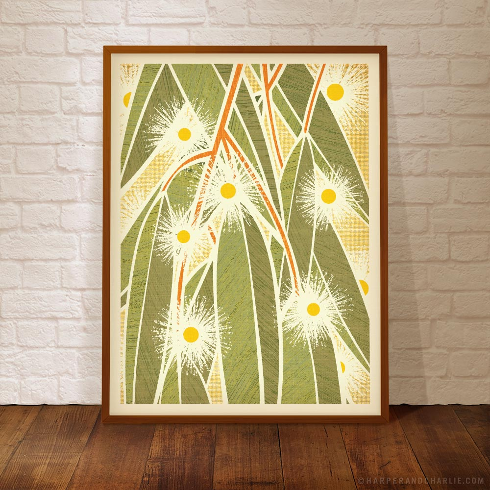 Australian Lemon Scented Gum colour print