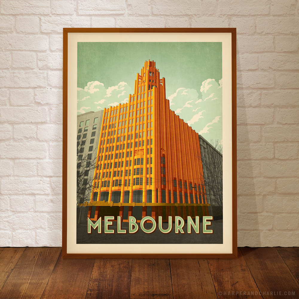 Manchester Unity Building colour poster