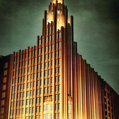 Manchester Unity Building colour print close up by Harper and Charlie