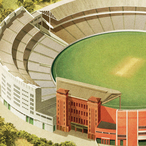 MCG Melbourne colour print close up by Harper and Charlie