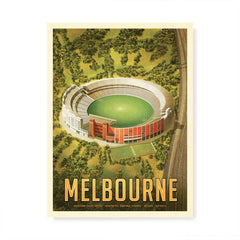 MCG Melbourne football portrait colour print by Harper and Charlie
