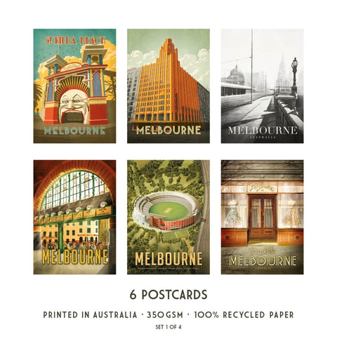 Melbourne Postcard Pack Set 1