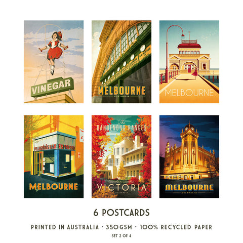 Melbourne Postcard Pack Set 2