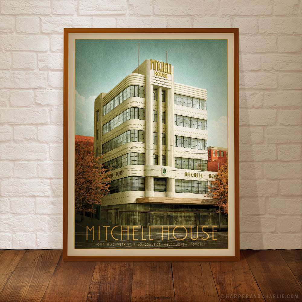 Mitchell House Colour Print Framed