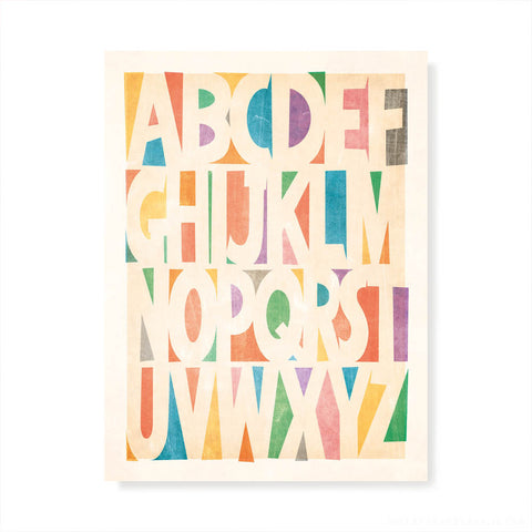 Post-Modern Alphabet Kids' Colour Print