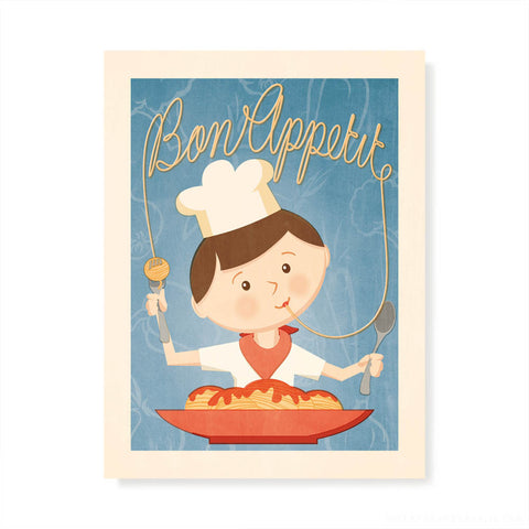 Bon Appetit Kids' Colour Print