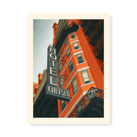 Chelsea Hotel, New York Colour Print