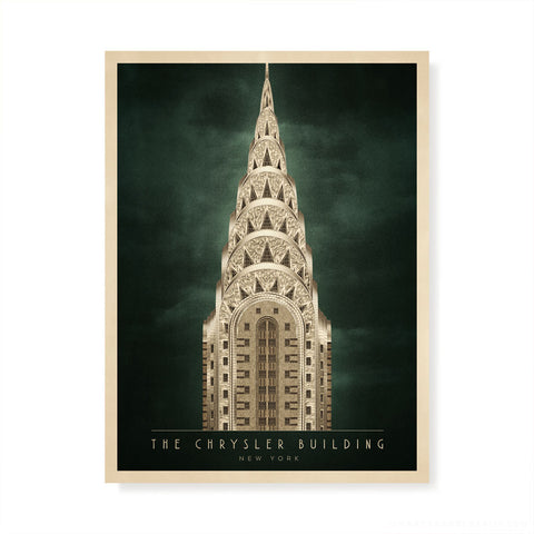 The Chrysler Building, New York Colour Print (4:3 Proportion)
