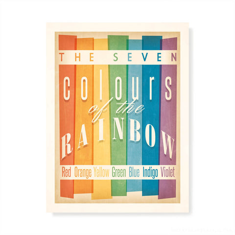 Colours of the Rainbow Kids' Colour Print