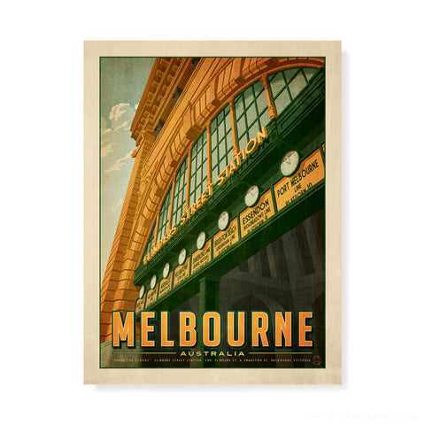 Melbourne Cricket Ground Landscape Colour Print Football