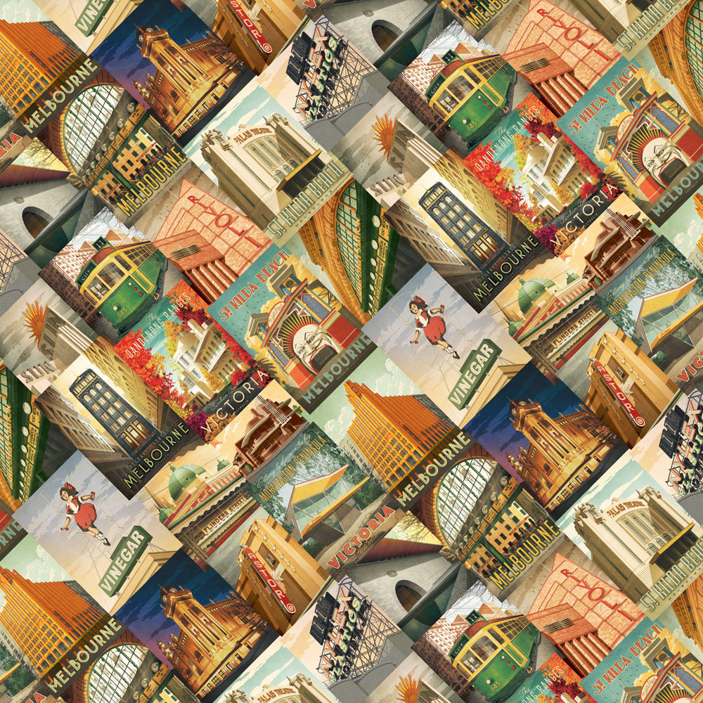 ICONIC MELBOURNE GIFT WRAPPING PAPER