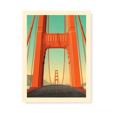 Golden Gate Bridge, San Francisco Colour Print