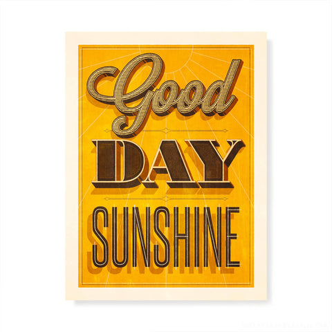 Good Day Sunshine Kids' Colour Print