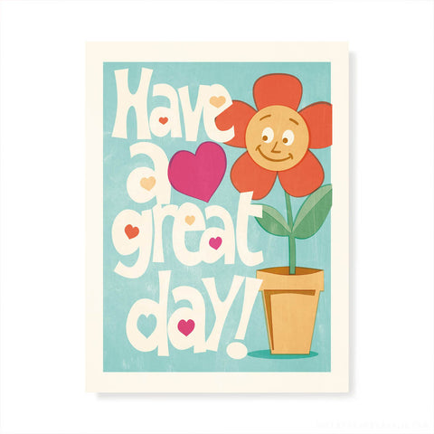 Have A Great Day! Kids' Colour Print