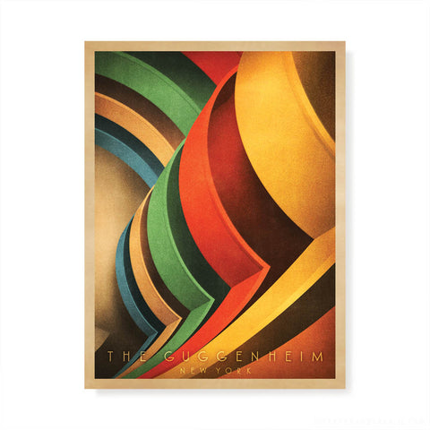Guggenheim Interior, New York Colour Print