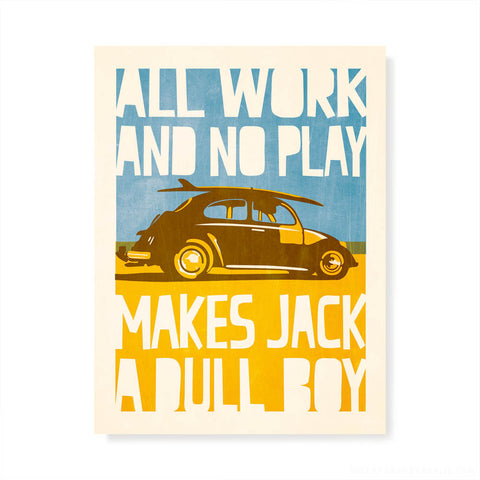 All Work and No Play Kids' Colour Print