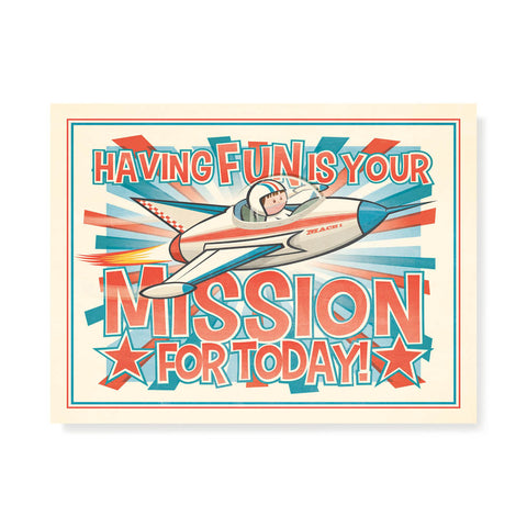 Having Fun Is Your Mission Kids' Colour Print