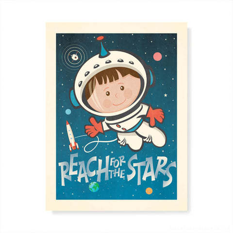 Reach For The Stars Kids' Colour Print
