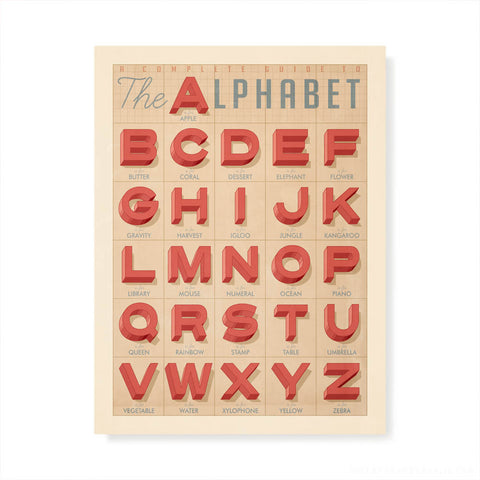 Old Textbook Alphabet Kids' Colour Print