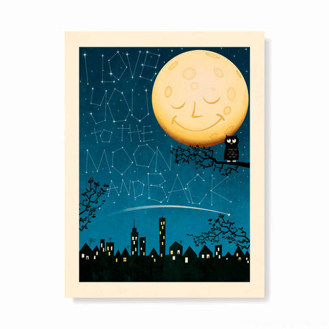 'I Love You To The Moon & Back' Constellation Kids' Colour Print