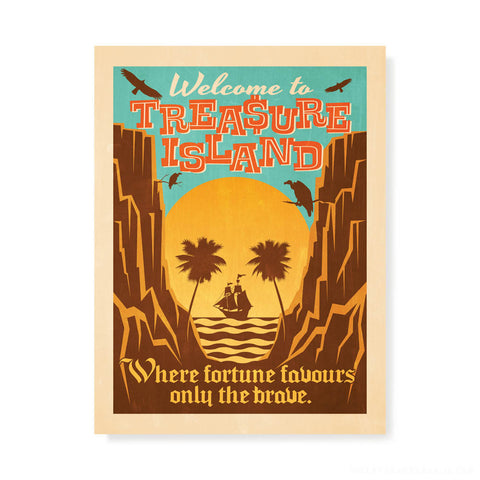 Welcome To Treasure Island Kids' Colour Print