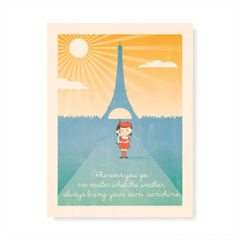 Wherever You Go Kids' Colour Print