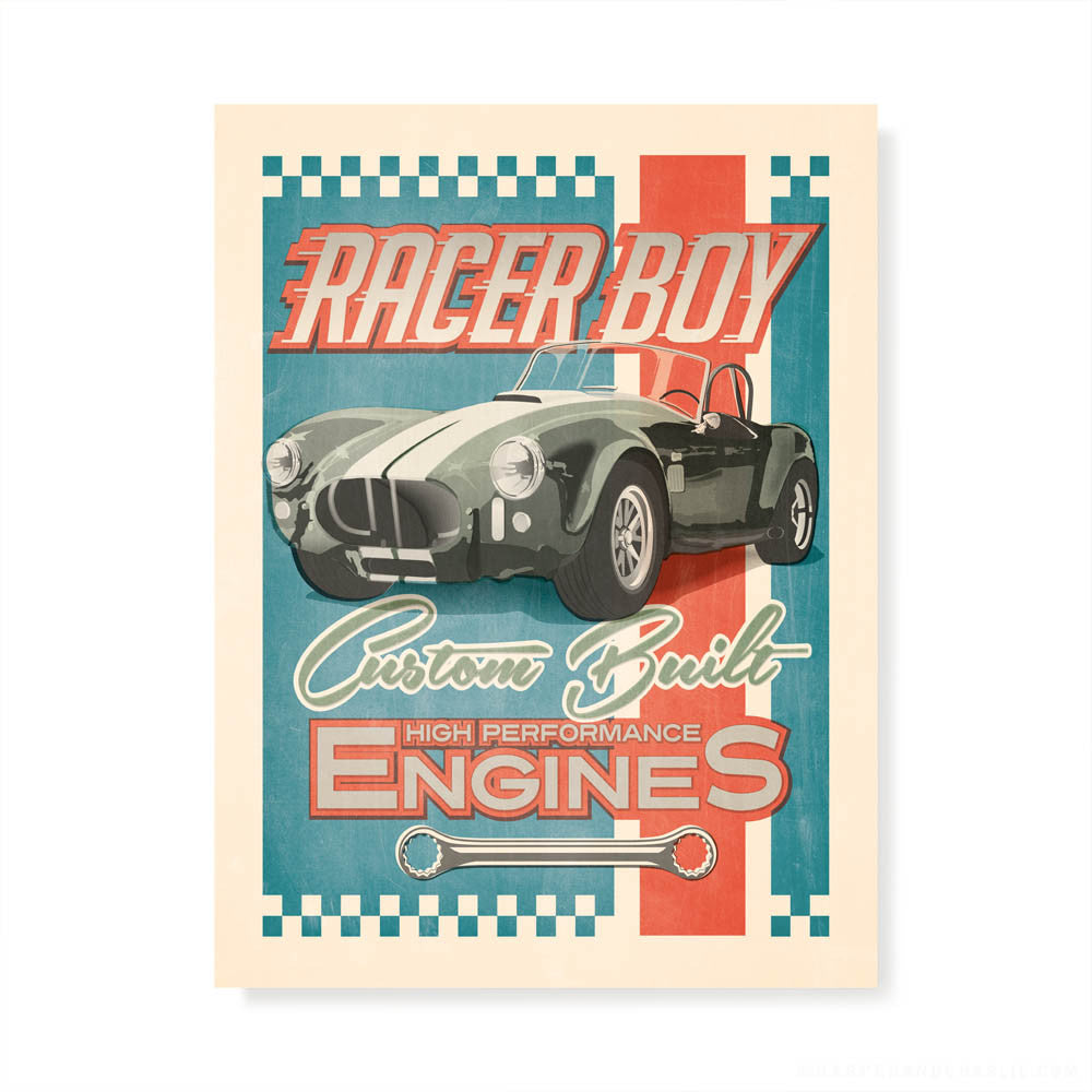 Racer Boy Kids' Colour Print