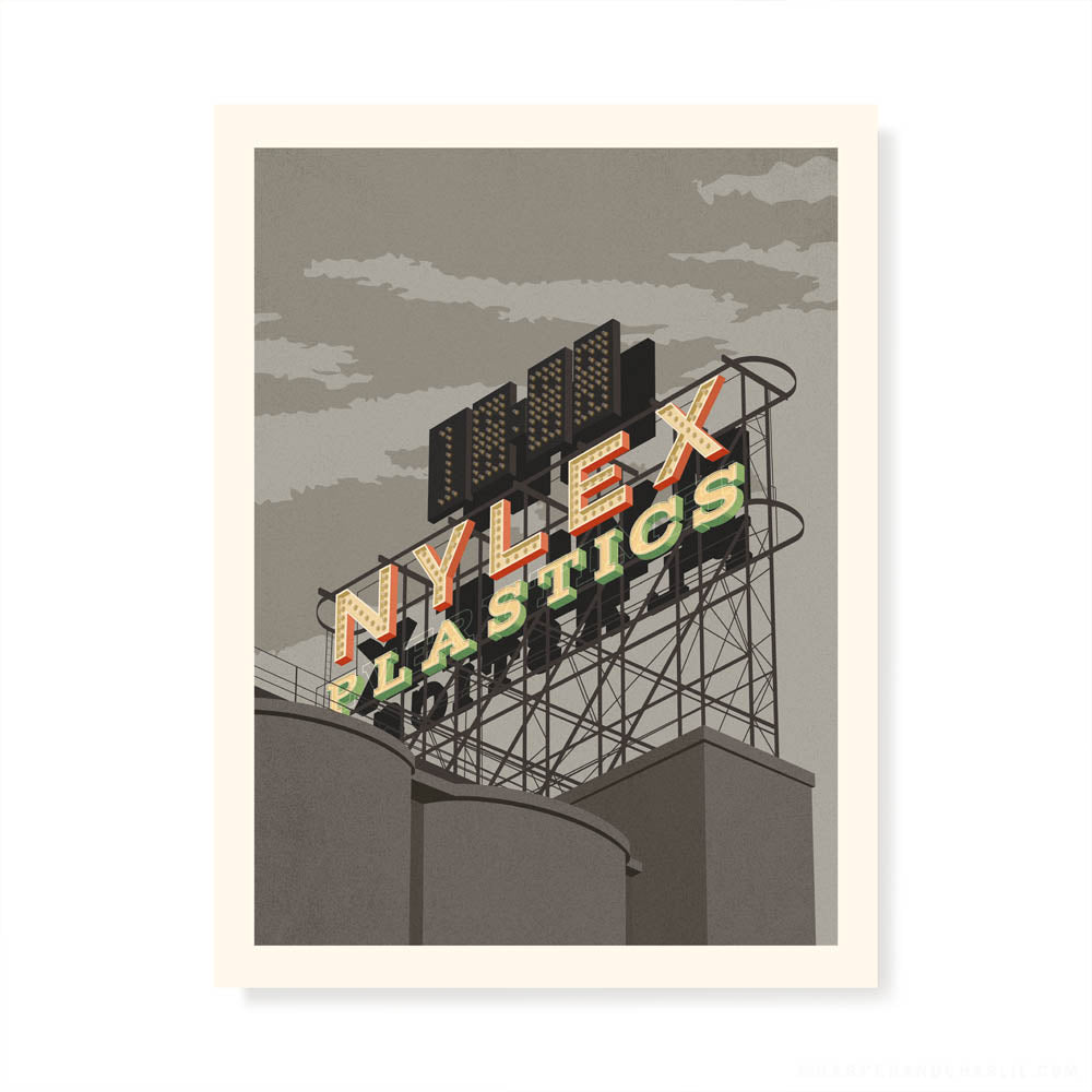 Nylex Sign, Cremorne grey sky print by Harper and Charlie