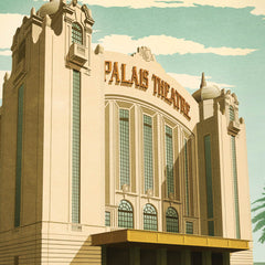 Palais Theatre St Kilda Colour Print close up by Harper and Charlie