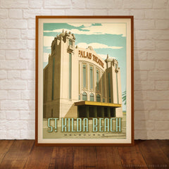 Palais Theatre St Kilda framed colour print by Harper and Charlie