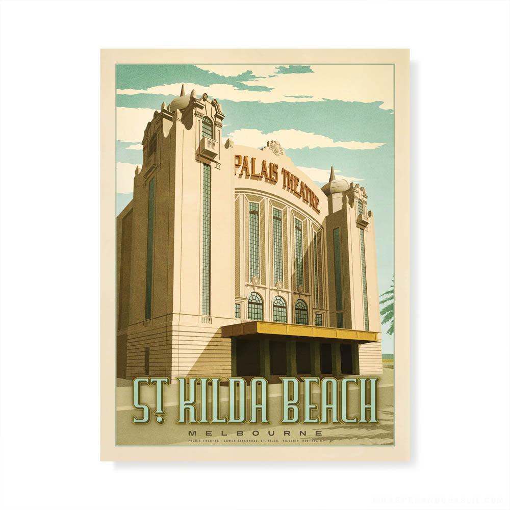 Palais Theatre St Kilda colour print by Harper and Charlie