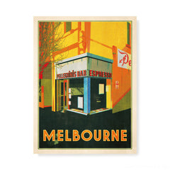 Pellegrinis Melbourne colour print yellow by Harper and Charlie