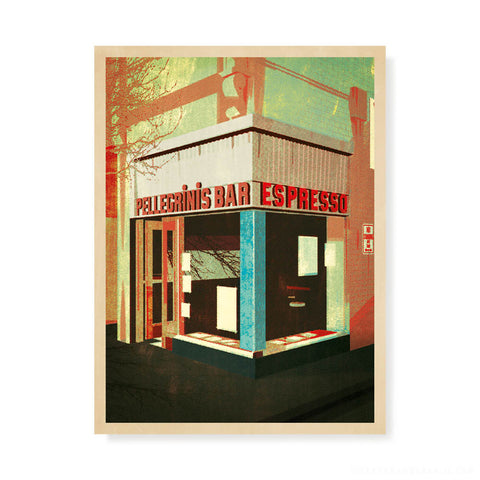 pellegrinis melbourne colour print design by harper and charlie green