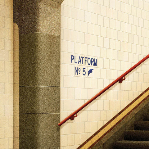 Platform No. 5, Flinders Street Station, Melbourne colour print close up by Harper and Charlie