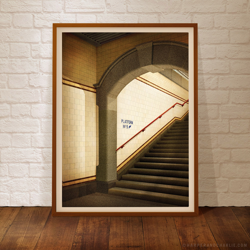 Platform No. 5 Flinders Street Station, Melbourne framed colour print by Harper and Charlie