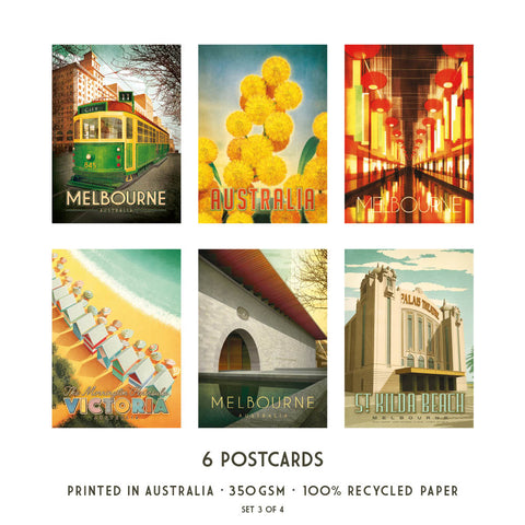 Melbourne Postcard Pack Set 3