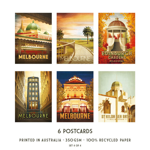 Melbourne Postcard Pack Set 4