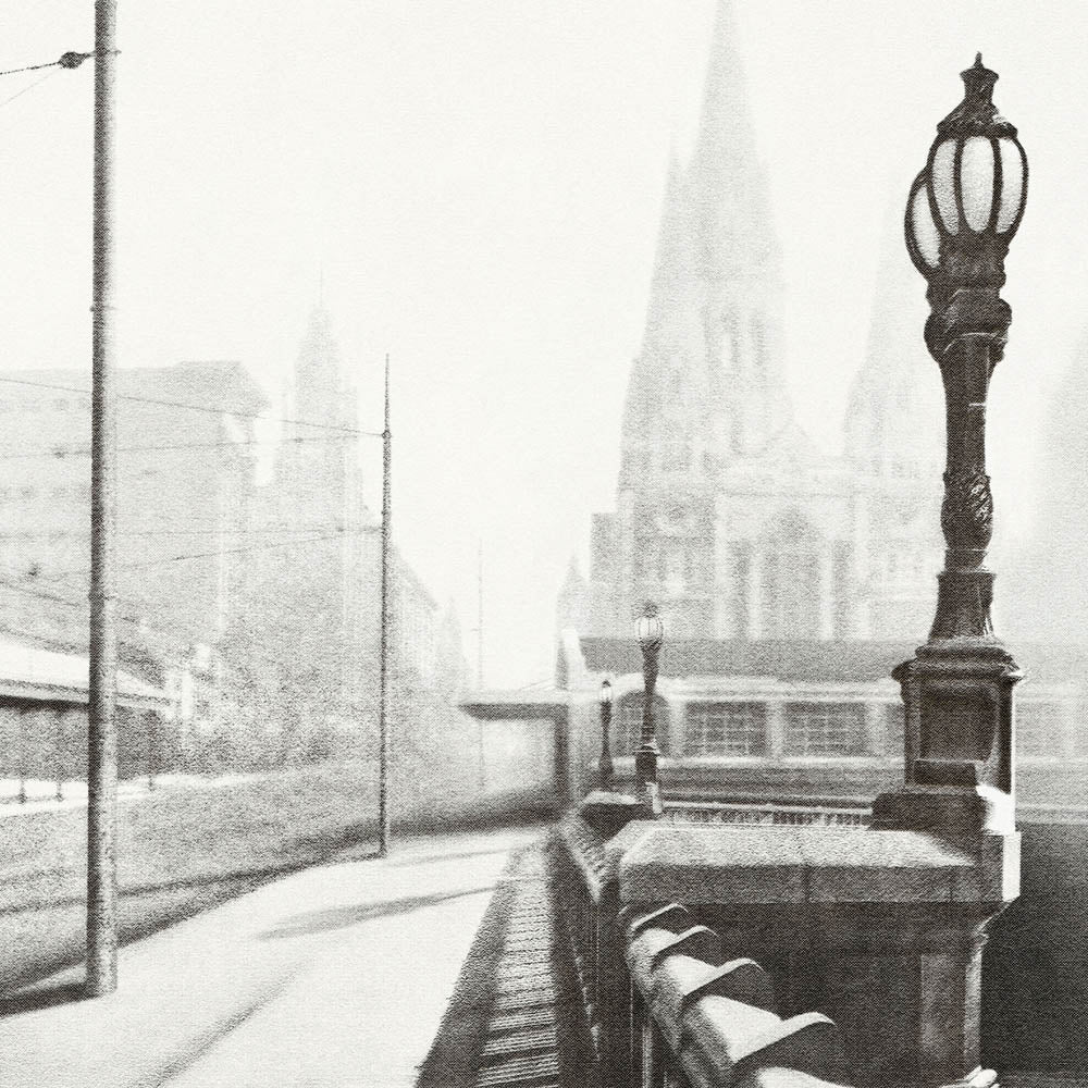 Princes Bridge Monochrome Print Close Up by Harper and Charlie