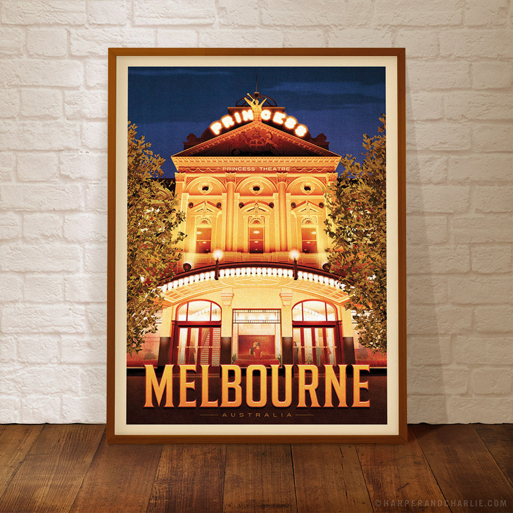 Princess Theatre Melbourne Colour Print