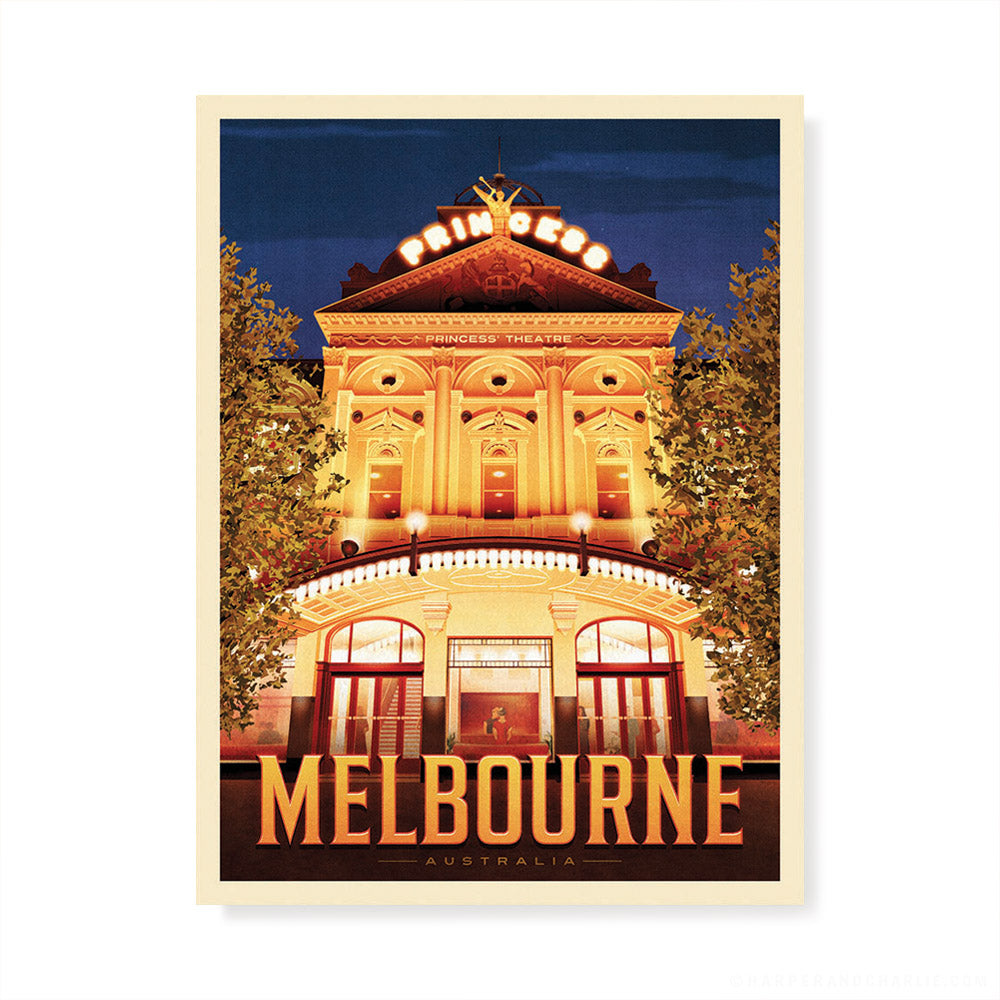 Princess Theatre Melbourne colour print by Harper and Charlie