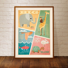 Big,Small, Short, Tall Kids' Colour Print