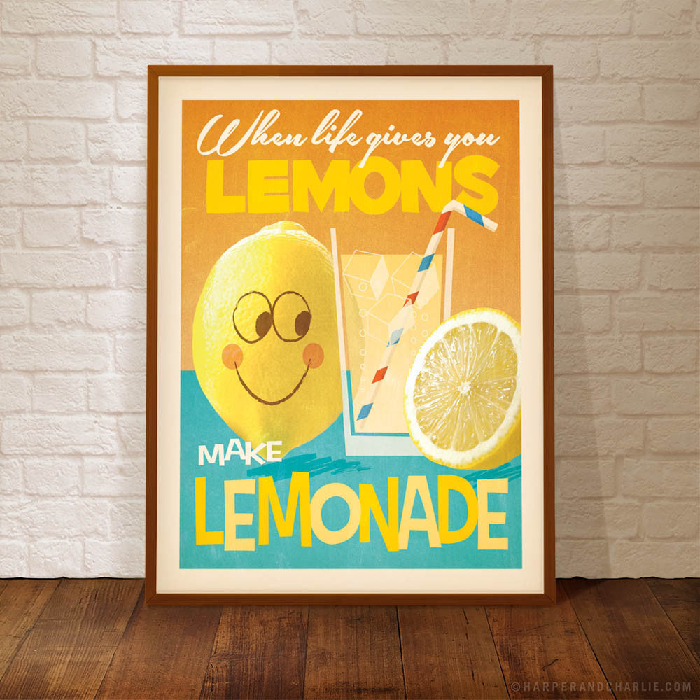 Lemons Make Lemonade Kids' Colour Print
