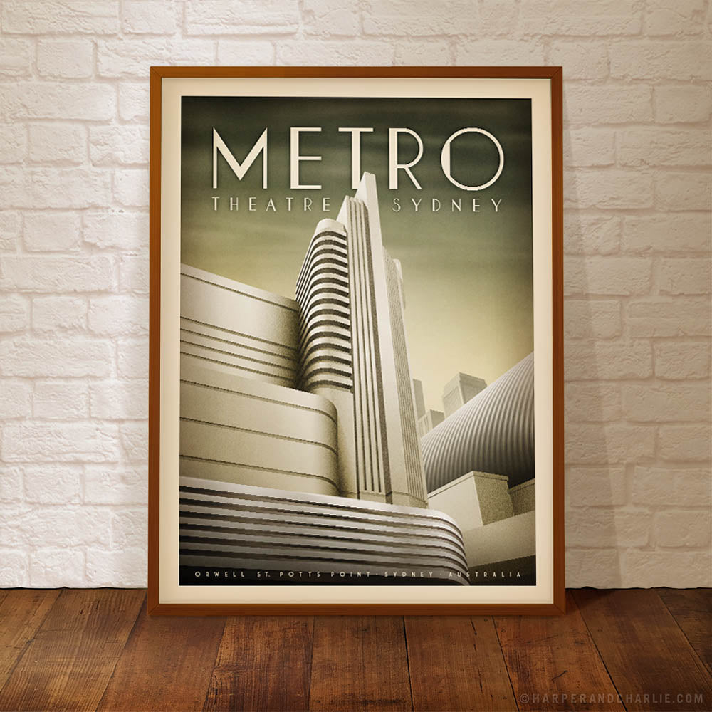 Metro Theatre, Potts Point, Sydney Colour Print