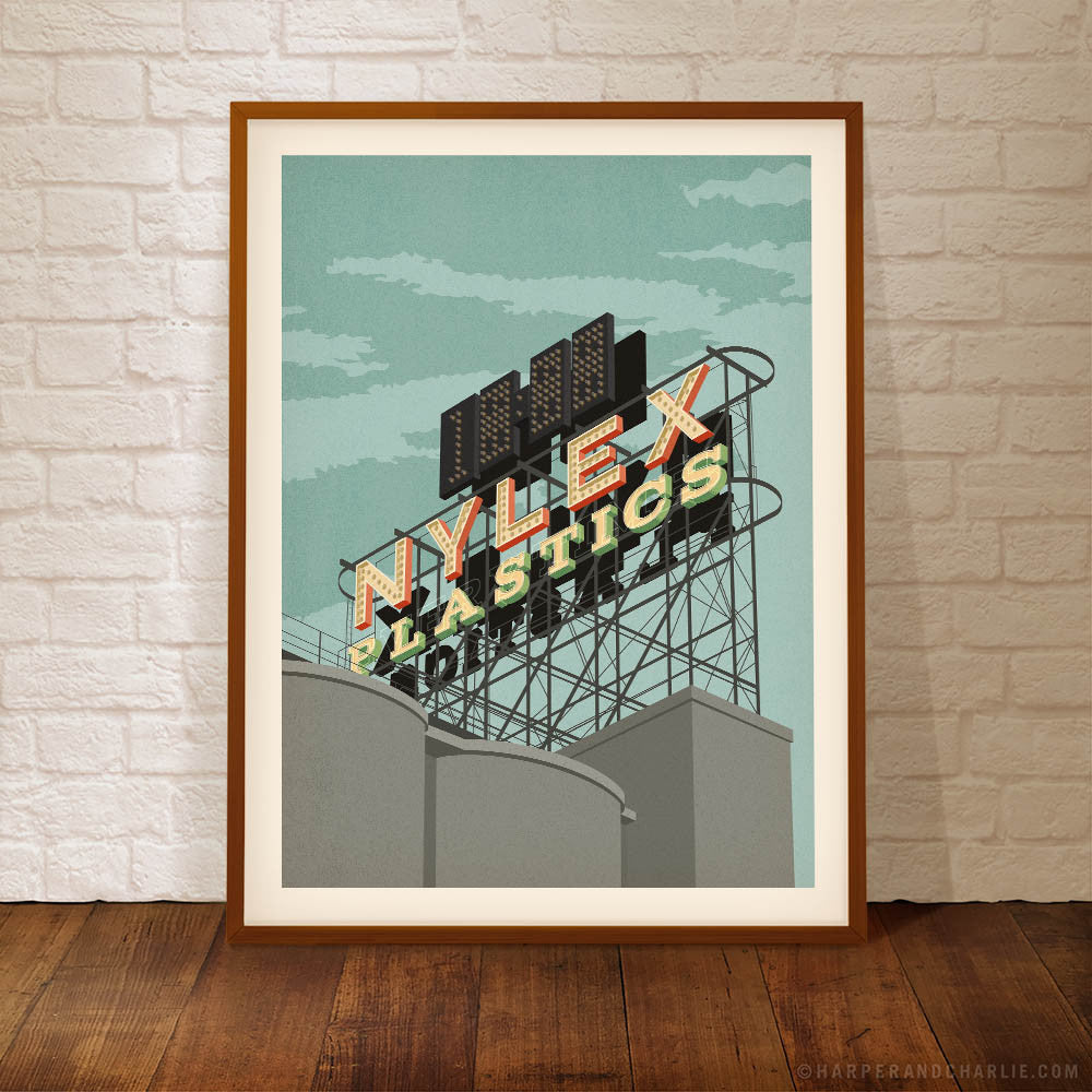 The Nylex Sign, Cremorne Colour Print