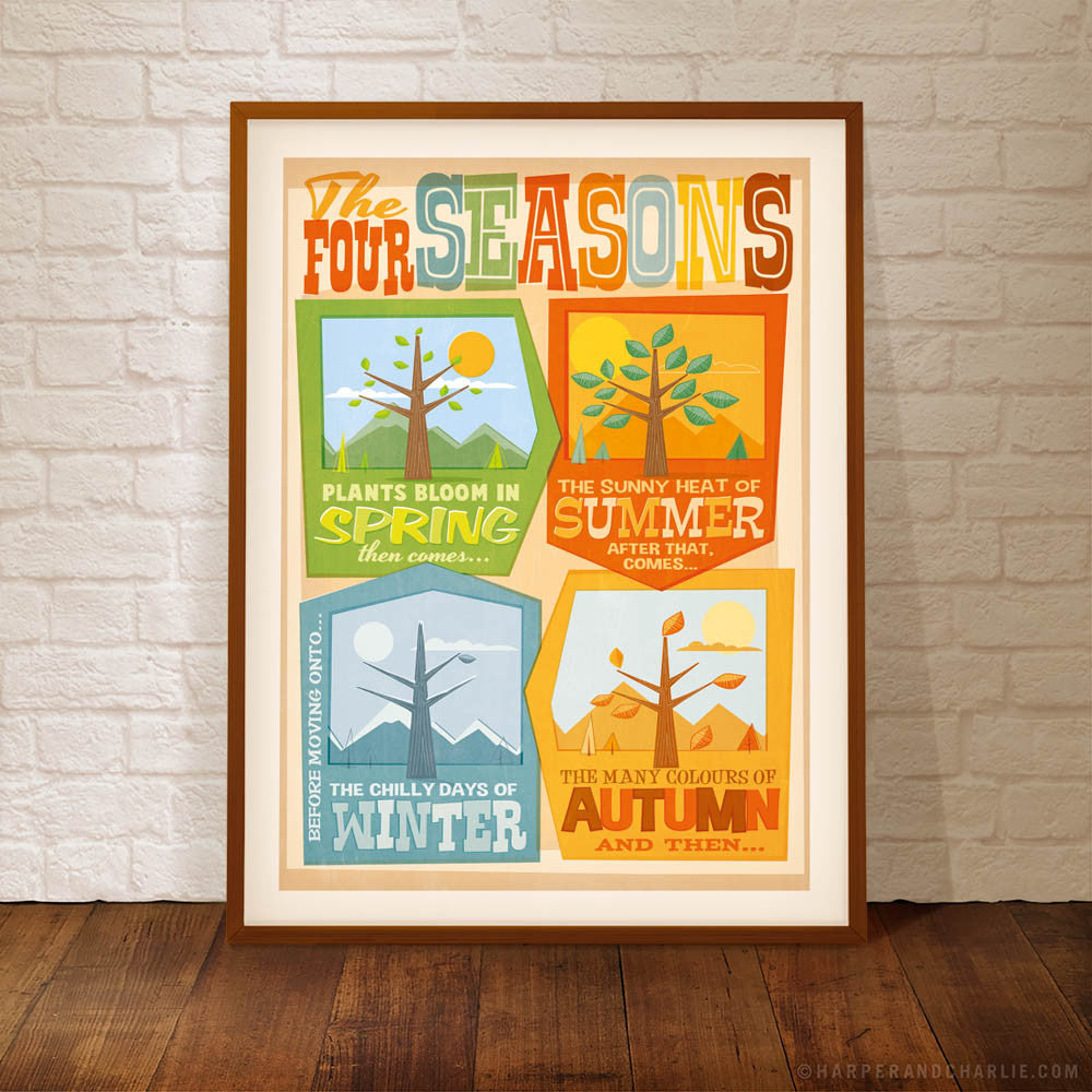 The Four Seasons Kids' Colour Print