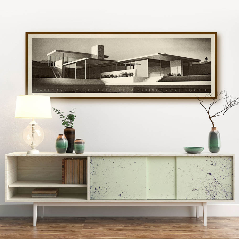 Kaufmann House, Palm Springs, California Colour Print