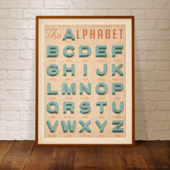 OLD TEXTBOOK ALPHABET