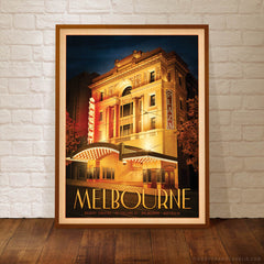 Regent Theatre Melbourne Portrait Colour Print Framed