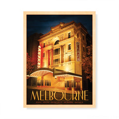 Regent Theatre Melbourne Portrait Colour Print by Harper and Charlie